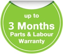 Up to 3 months parts & labour warranty