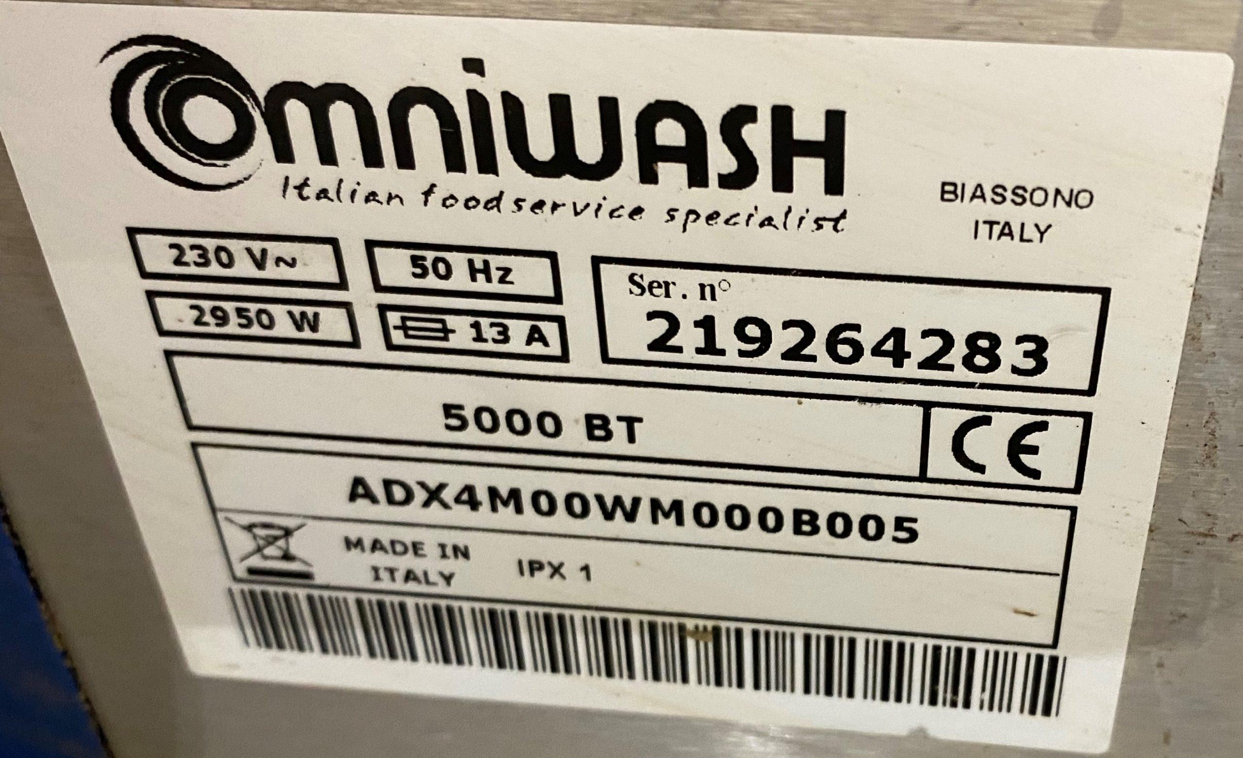 ADEXA Omniwash 5000BT Under Counter Dish Washer – 13 amp