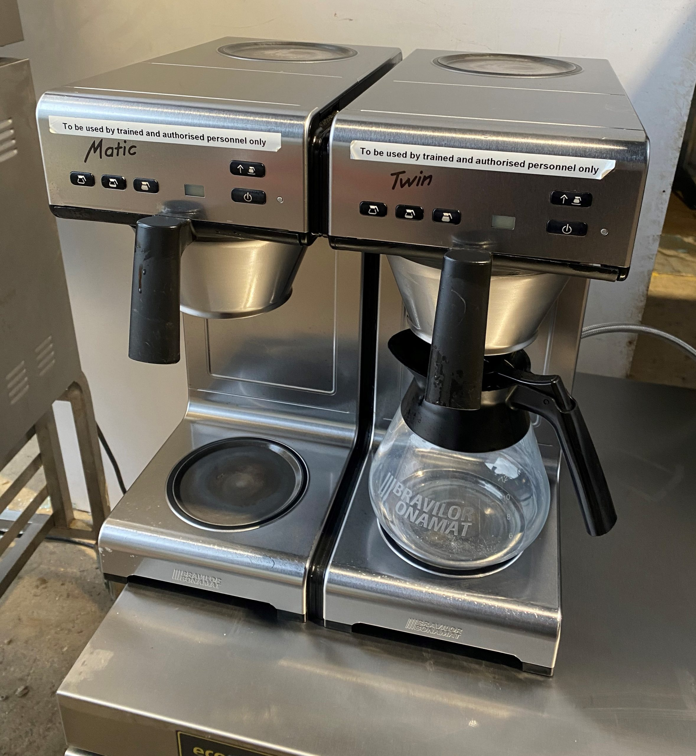 BRAVILOR Twin Matic Double Percolator Station – Mint condition