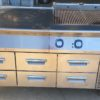 Electrolux Electric char grill and bench fridge