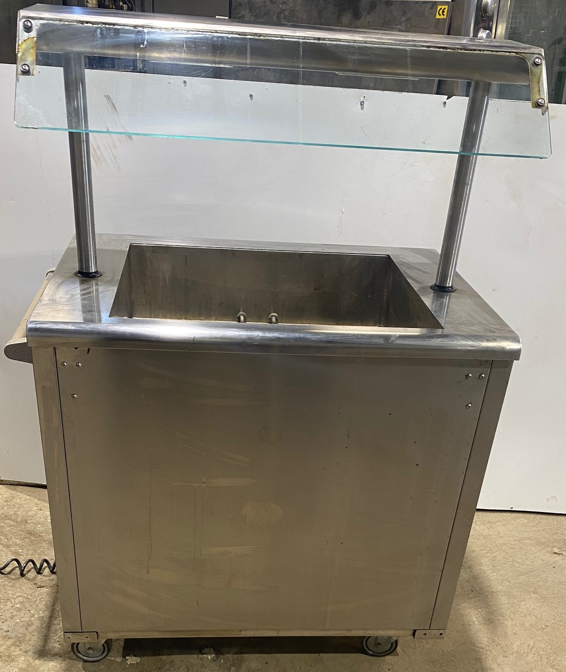 Heated 2 Gastronorm Tray servery on wheels