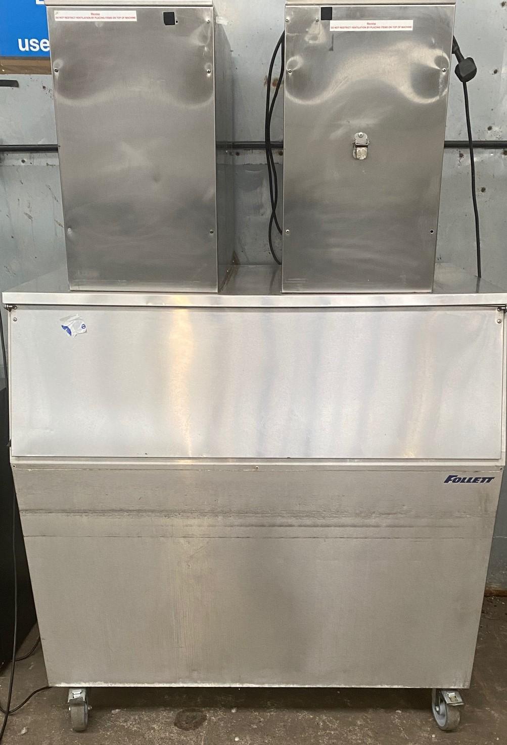 FOLLET 250kg Ice Crusher with Storage Bin